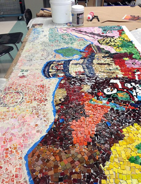 grouting the mosaic