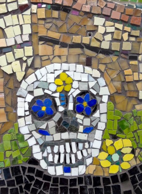 detail of day of the dead skull