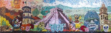 "Julia Whitney Barnes: ""Historias Coloridas de México"" (glass mosaic), 2013, Brooklyn School of Inquiry, Brooklyn, NY"