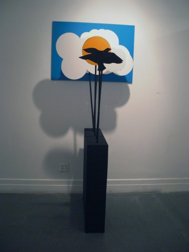 """The Peaceful Army"", 2013. Wood, foamcore, acrylic, paper. 60""x 34""x 40"""